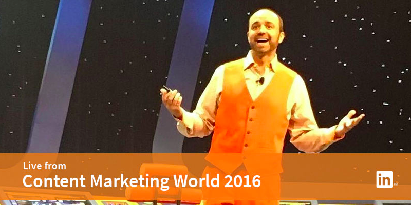 Joe Pulizzi at Content Marketing World 2016
